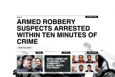 Police Web-design and Branding